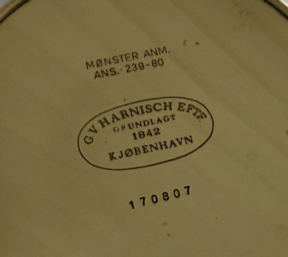 Messing lysestager, G.V. Harnisch Eftf.