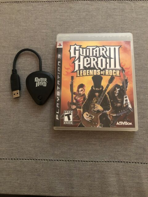 Sony Playstation 3 PS3 Guitar Hero RedOctane Les Paul 95121806 Dongle + Game