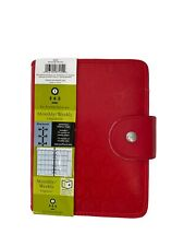 New Listingnew 365 Franklin Covey Red Clock Embossed Planner Size 4 Compact Inserts Address