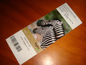 Singapore-Zoo-Collectible-2007-Admission-Ticket-Unused-Expired