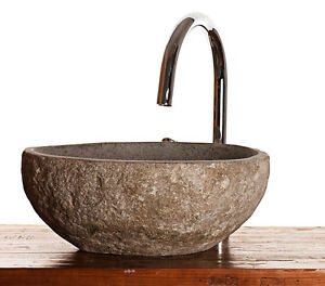 River Rock Natural Stone Granite Wash Basin For Bathroom Or