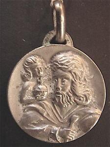 Medal-Silver-Saint-Christopher-Vintage-1960-70-New