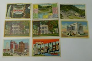 19-Vintage-Postcards-TENNESSEE-GREAT-SMOKY-MOUNTAINS-Memphis-Nashville