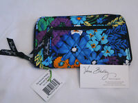 Vera Bradley Midnight Blues Zip Around Wallet Clutch Wristlet For Purse Tote