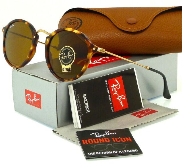 8c7bb4129e Ray-Ban Rb2447 1160 Tortoise gold Frame Brown Classic 49mm Lens Sunglasses