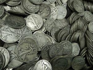 90/% Silver Coin Lot Choose How Many Walking Liberty Half Dollars Circulated