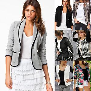 Women-Slim-Lapel-Formal-Business-Blazer-Suit-Jacket-Coat-Casual-Outerwear-Tops
