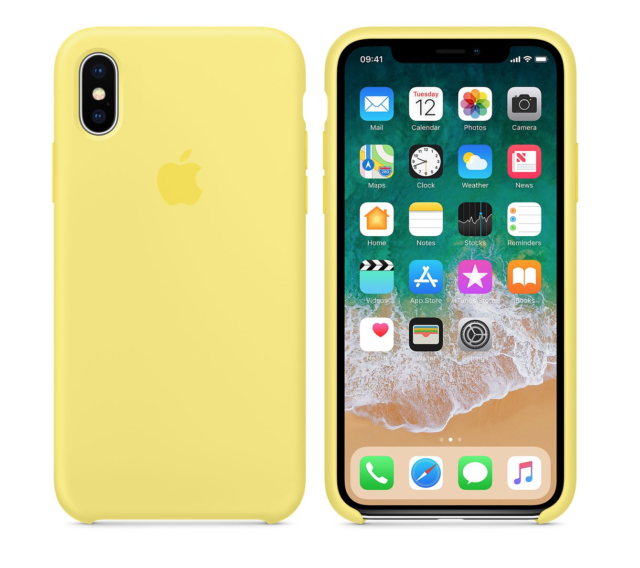 online store c4b06 b8020 Apple iPhone X Silicone Case Lemonade