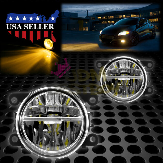 Pair LED 60W Fog Light Clear Lens OEM Quality Replacement