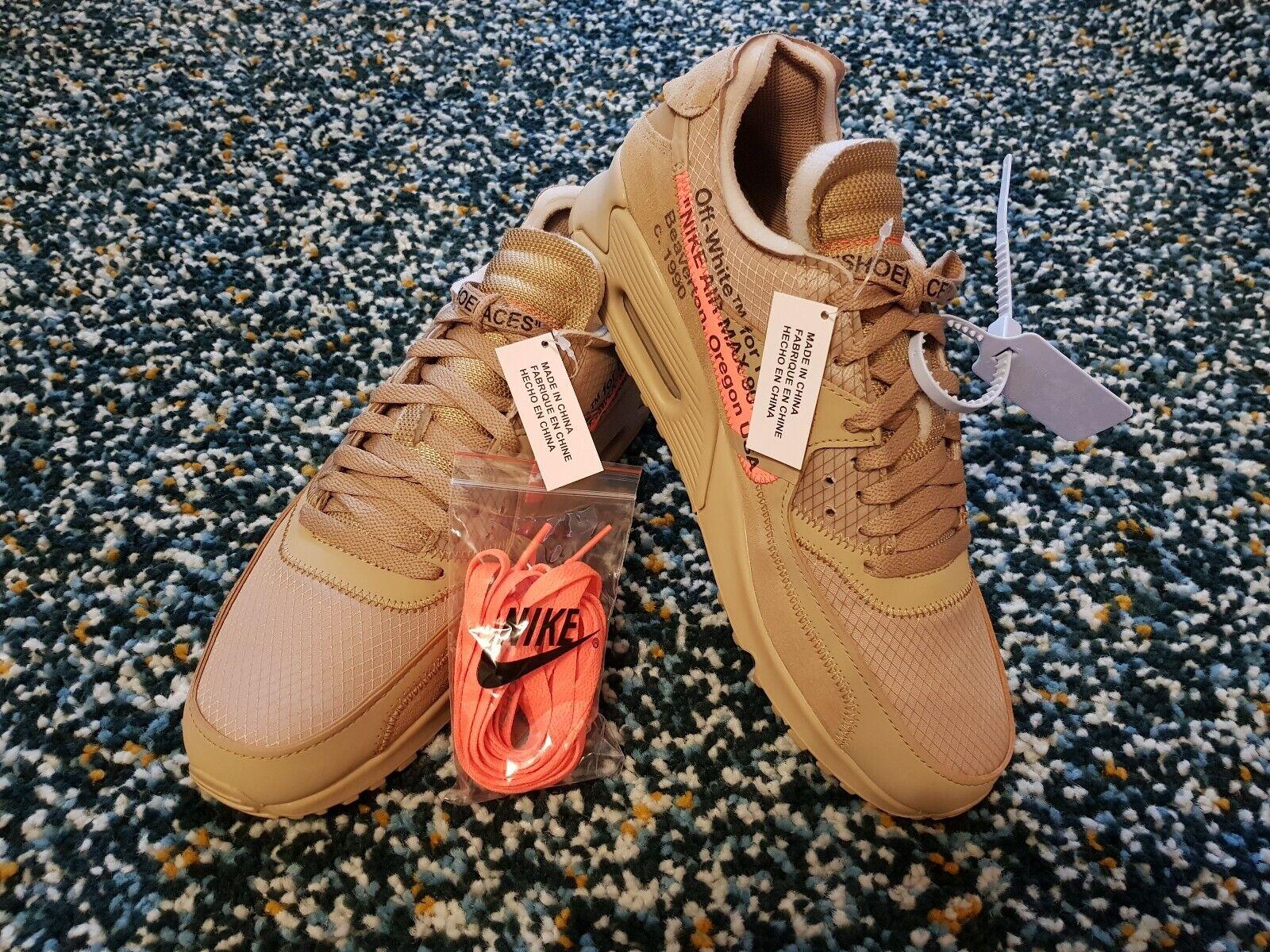 Nike x Off-White Air Max 90 Desert Ore UK9.5 Virgil Abloh The Ten Limited Last