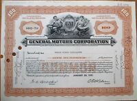 GM / General Motors Corporation 1950s Stock Certificate