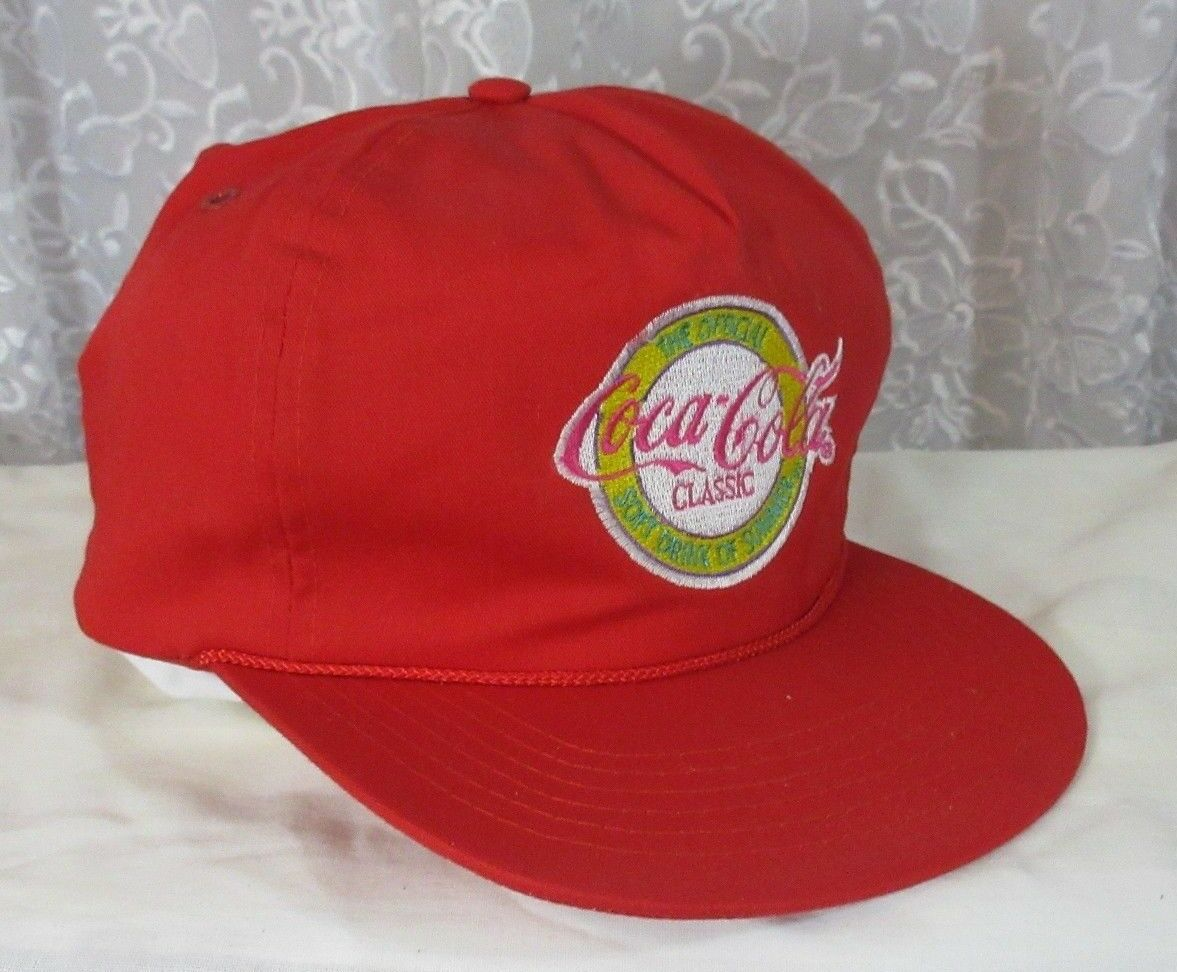 VTG Coca Cola Rope Soft Snapback hat cap Official Soft Rope Drink of Summer Embroidered b7987b