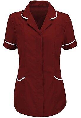 Womens Tunic Nurses Uniform vet Salon Beauty Medical Dental Therapist Healthcare