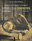 Introductory Statistics Student Solutions Manual by Prem S Mann (Paperback / softback, 2016)