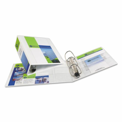"""4/"""" Avery Nonstick Heavy-Duty EZD Reference View Binder White"""