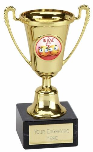 Emblèmes-cadeaux Gold moment Cup Im In Love With You plastique Trophée Gravé Gratuit