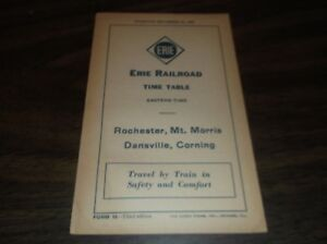 SEPTEMBER-1935-ERIE-RAILROAD-FORM-15-ROCHESTER-MT-MORRIS-DANSVILLE-TIMETABLE