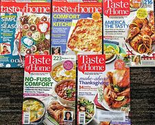 Lot of 5 Taste Of Home magazines: Dec, 2012, Jan-Mar 13, Jun/Jul 13, Sep-Nov, 13
