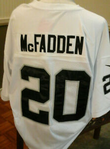 Details about Oakland Raiders RB Darren McFadden NFL White Jersey #20 Size 52