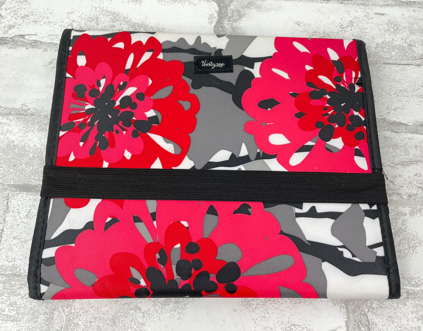 Thirty One Bold Bloom Tri-Fold Organizer iPad or Tablet Case With Pockets