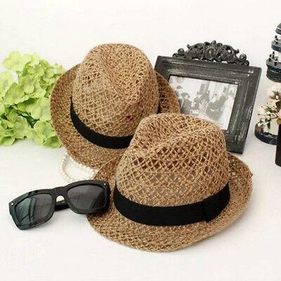 Fashion women Girls summer hat striped mesh straw sun hat panama hat beach hats