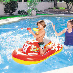 Details about Bestway Inflatable Wave Attack Float Water Gun Ride On  Swimming Pool Toy Kids