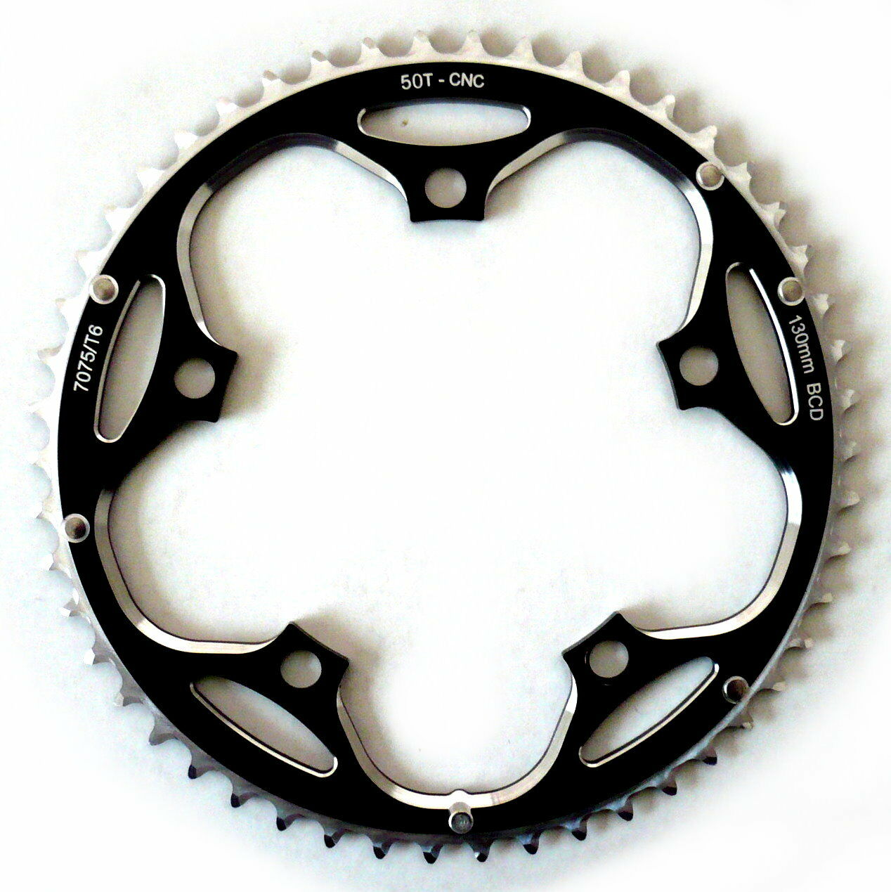 BCD 130mm SRAM POWERGLIDE Chainring 46T Black 70g