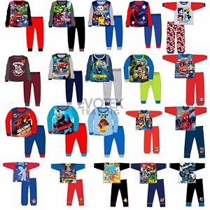 Boys-Kids-Pyjamas-Character-Disney-Childrens-Pyjama-Set-Age-1-12-Years