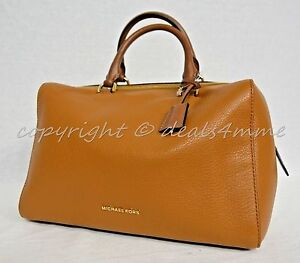 e560fbe35e59 Image is loading NWT-Michael-Kors-Kirby-Large-Leather-Satchel-Shoulder-