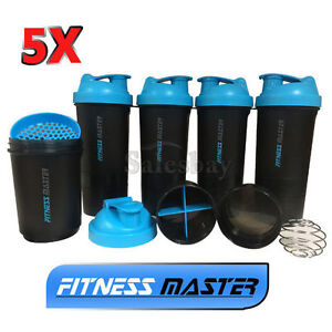 5X-3in1-GYM-Protein-Supplement-Drink-Blender-Mixer-Shaker-Shake-Ball-Bottle-Cup