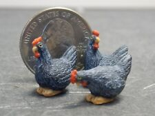 """Miniature 3 Chickens 1//2/"""" Scale # A3170GD 1:24"""