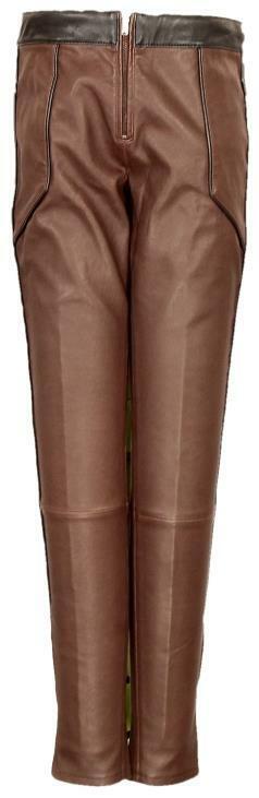 J Crew De  Mujer Cuero Moto Pantalones Leggings Moldura lateral de cremallera Borgoña 6  estar en gran demanda