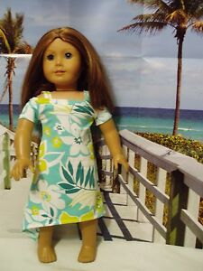 Tropical-Peek-a-Boo-Dress-Fits-American-Girl-18-034-Doll-Clothes
