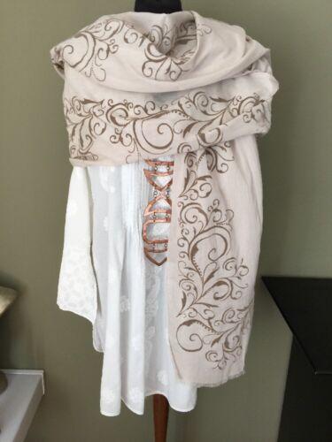 sciarpa stola arte folclorico tribale 105x204cm di cotone stoffa Sciarpa panno di Hqvt5x