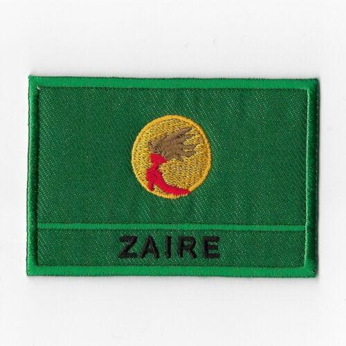 Zaïre Drapeau National iron on patches brodé appliqué badge emblème