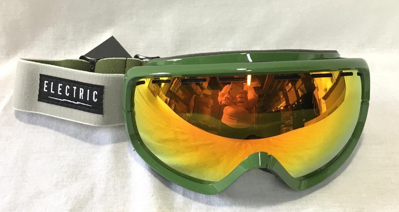 Electric EGB2S Snow Ski Snowboard Goggles Chopper Green Bronze Red Chrome NEW