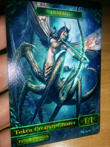 for Hornet Queen M15 4x Insect  #2 Custom Altered Tokens MTG