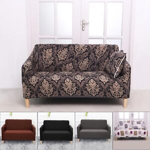 1/2 PCS 2 Seater Sofa Covers Slipcover Elastic Dust Scratche Settee Protector