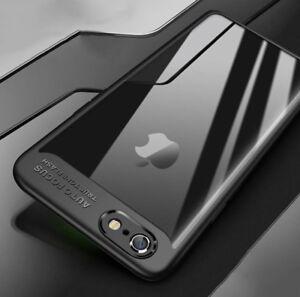 cheaper 99b9d 42b26 Luxury Super Slim Crystal Clear iPhone X Case Cover Black | eBay