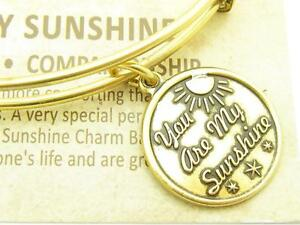 Wind-and-Fire-You-Are-My-Sunshine-Charm-Gold-Wire-Bangle-Stackable-Bracelet
