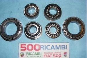 FIAT-500-F-L-R-126-KIT-COMPLETO-CUSCINETTI-CAMBIO-INGRANAGGI-NUOVI