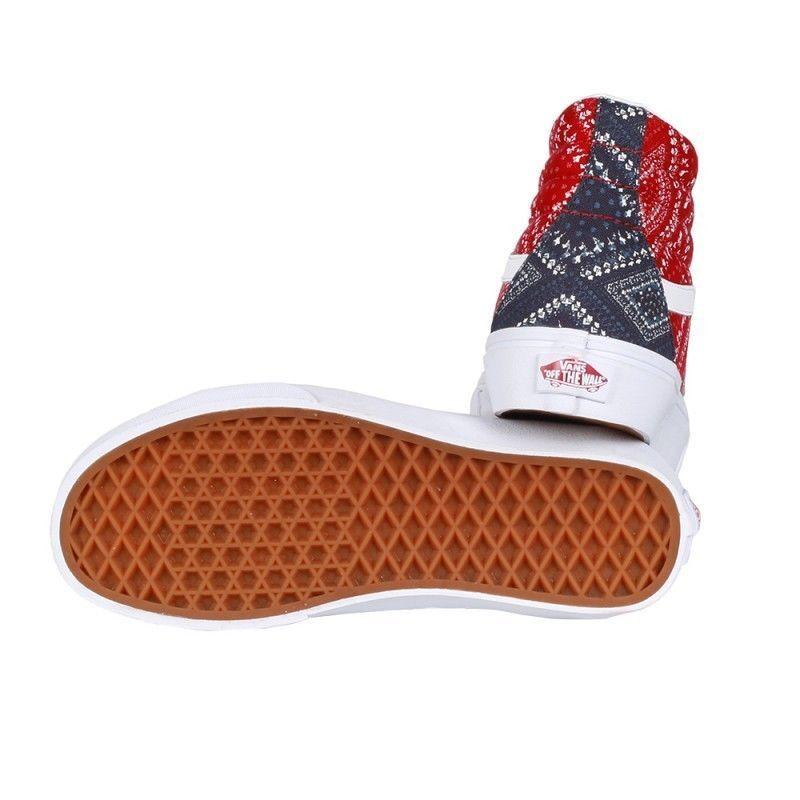 Vans SK8 Hi Reissue Ditsy Bandana Chili Pepper Skate Schuhes 9.5 Damenschuhe Größe 9.5 Schuhes e32193