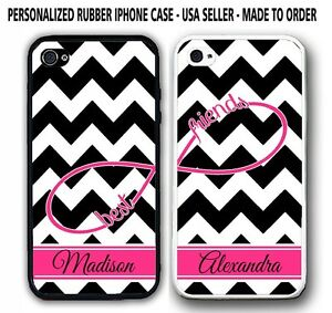 BLACK CHEVRON PINK STRIPE ANCHOR BFF Best Friends CASES For iPhone 6S 6 5S 5C 4S