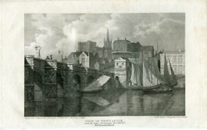 View-IN-New-Castle-Engraving-By-W-Angus-Of-A-Drawing-Of-J-C-Smith
