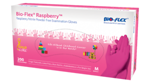 Bio-Flex-Raspberry-NITRILE-GLOVES-Examination-Box-of-200-Gloves-PCS-PINK