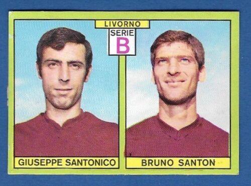 LIVORNO SANTONICO//SANTON FIGURINA CALCIATORI PANINI 1968//69 RECUPERO