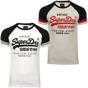 Superdry-Homme-Raglan-T-shirt-034-VL-tri-couleur-Raglan-Tee-034-a-Manches-Courtes