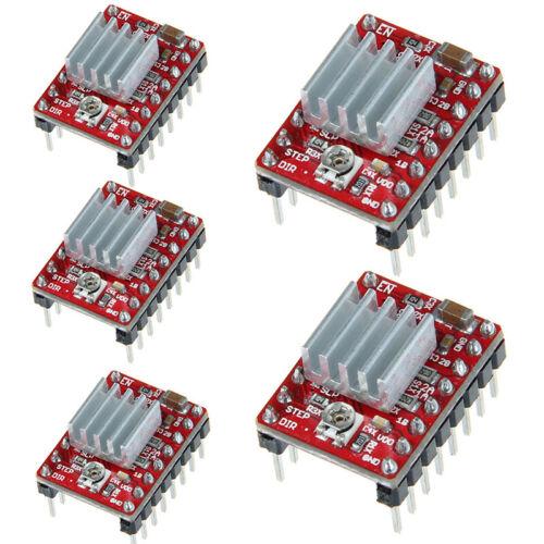 5x A4988 3D Drucker Printer Schrittmotor Stepper Motor Driver Reprap Kühlkörper