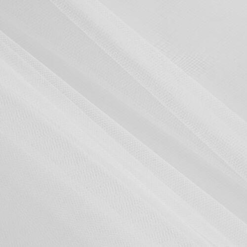 Bridal Soft Veiling Wedding Tulle Tutu Net Fabric 300 cm Wide 5 Metres in WHITE