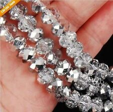 140PCS 6x8mm Gray AB Crystal Faceted Loose Bead